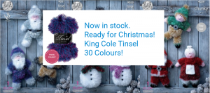 King Cole Chunky Tinsel Now Available