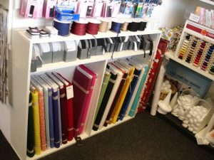 Inside the Shop - Fabric display