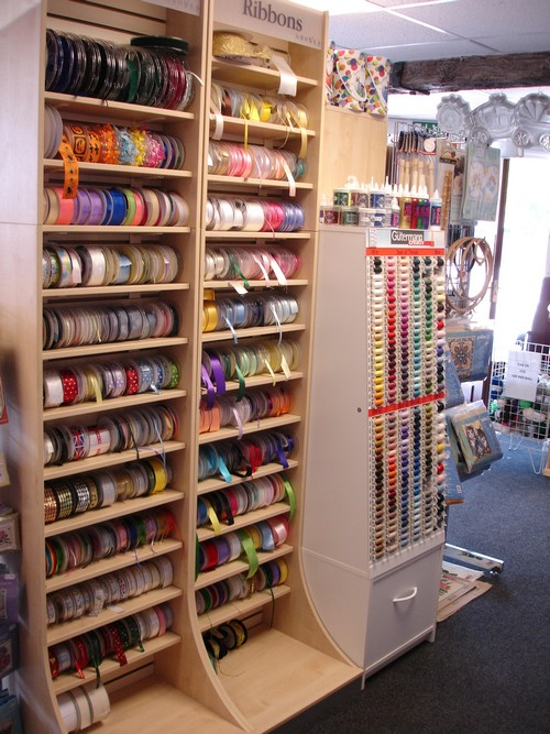 Inside the Shop - Our Ribbons display