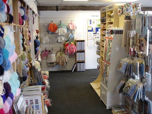 Inside the Shop - Wool , Clothes & Ribbon
